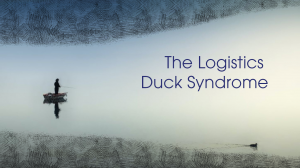 """What is """"The Logistics Duck Syndrome""""?"""
